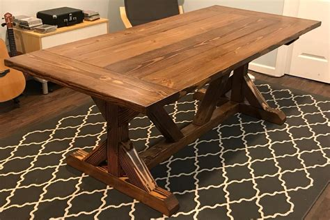 Diy Trestle Dining Table