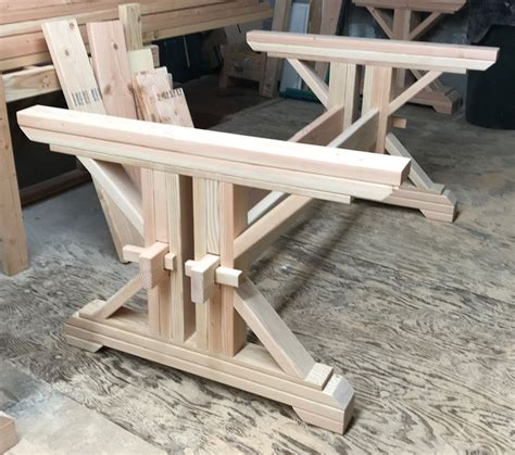 Diy Trestle Farm Table Legs