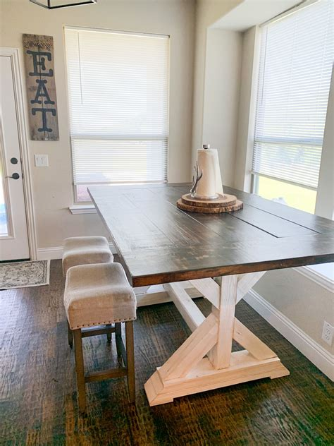 Diy Trestle Table Counter Height