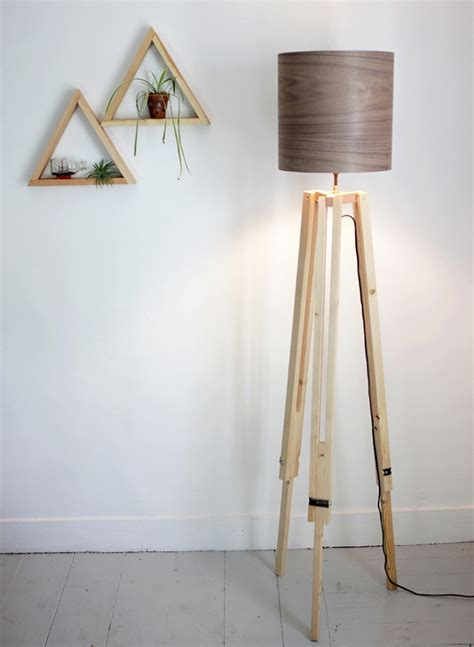 Diy Tripod Lamp Wood