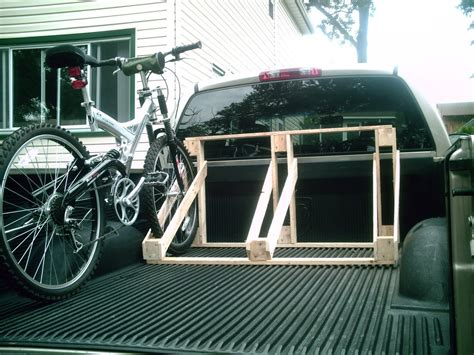 Diy Truck Bed Bike Rack Wood