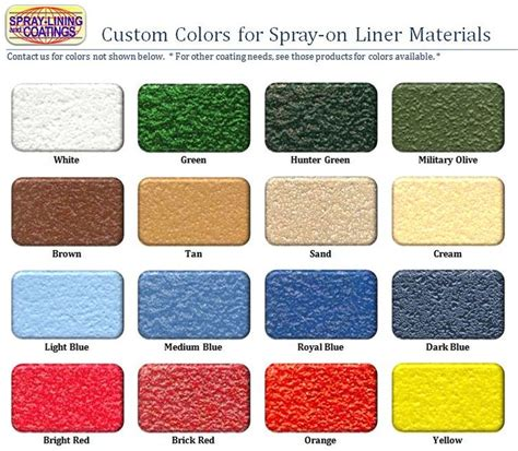 Diy Truck Bed Liner Coatings Colors