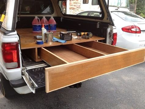 Diy Truck Bed Organizer Wood Slider Closet