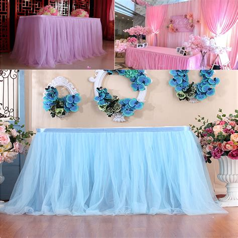 Diy Tulle Table Cover