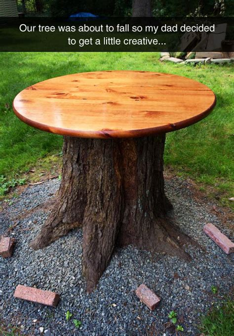 Diy Turning Tree Branches Into A Table