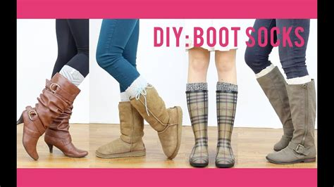 Diy Tutorial Boot Socks Miss Louie