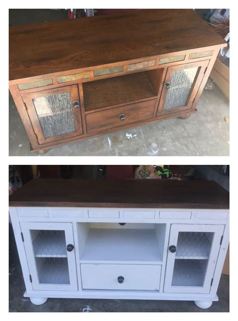 Diy Tv Stand Redo With Chicken