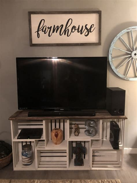 Diy Tv Stand Wood Crates