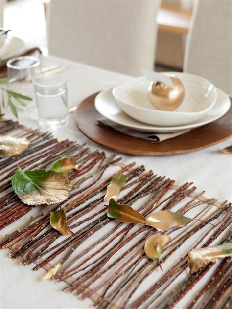 Diy Twig Table Runner