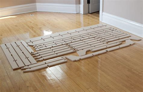 Diy Twin Bed Frame Single Sheet Of Plywood