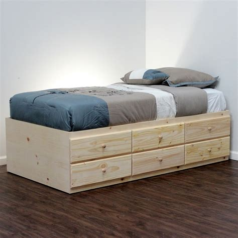 Diy Twin Bed With Drawers Underneath