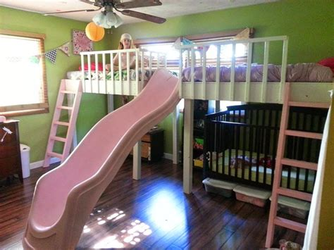 Diy Twin Loft Bed With Slide