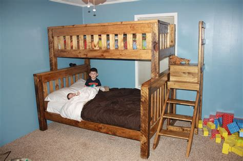 Diy Twin Over Full Bunk Bed With Pedestal