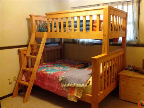 Diy Twin Over Queen Bunk Bed