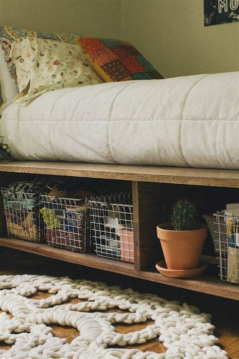 Diy Twin Platform Bed With Baskets