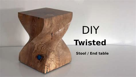 Diy Twisted Stool Table