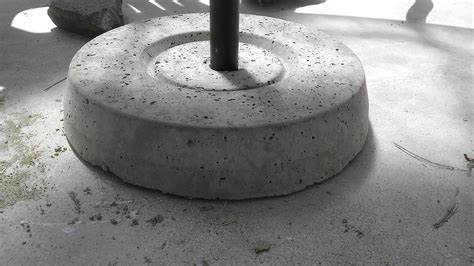 Diy Umbrella Stand Concrete