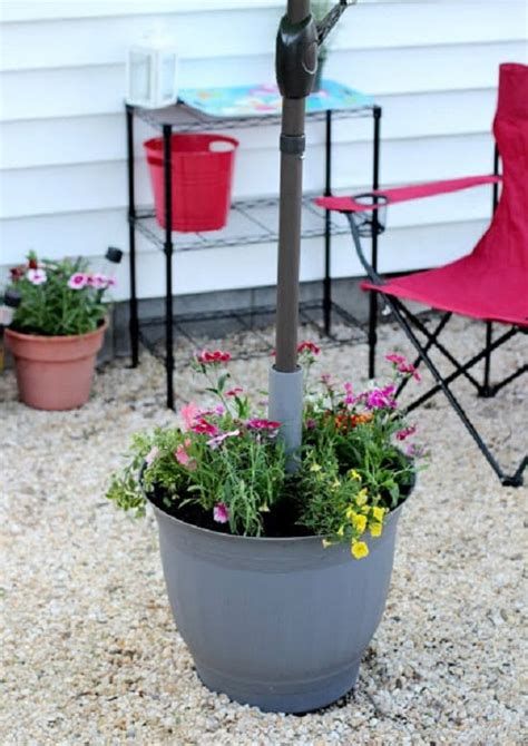 Diy Umbrella Table Planter