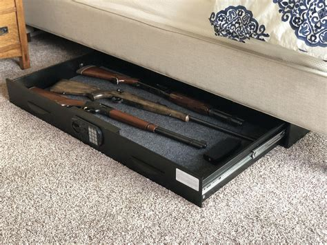 Diy Under Bed Gun Safe Drawer