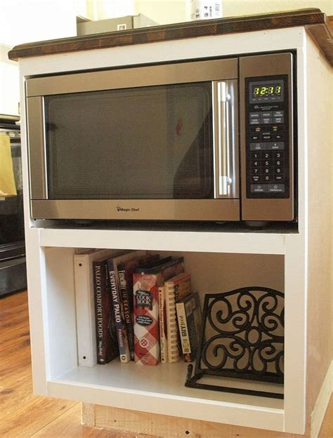 Diy Under Cabinet Microwave Shelf