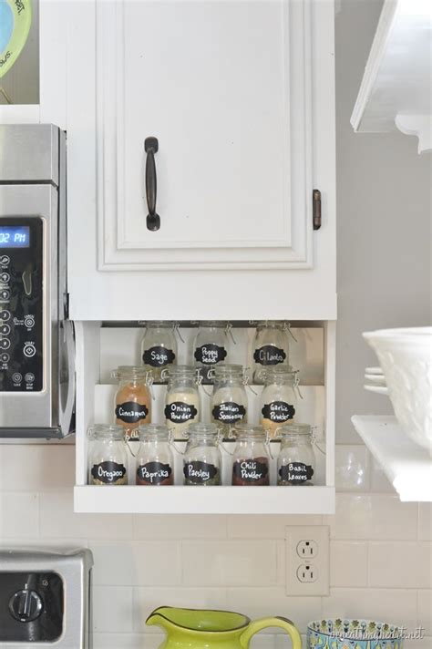Diy Under Microwave Spice Rack