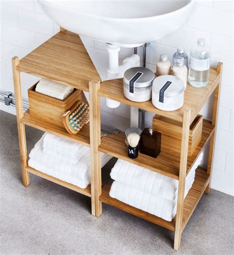 Diy Under Pedestal Sink Storage