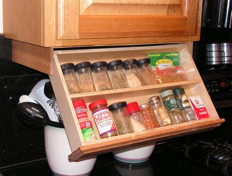Diy Under Shelf Spice Rack