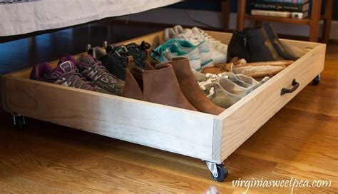 Diy Under The Bed Shoe Storage