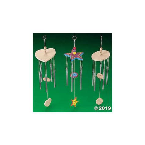 Diy Unfinished Wood Tropical Wind Chimes