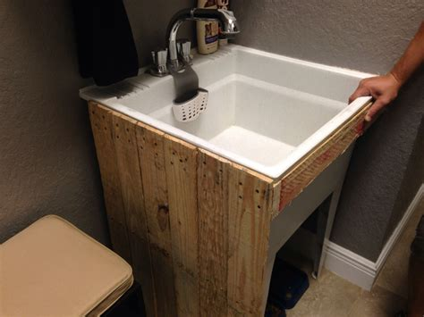 Diy Utility Sink Stand Plans Using Prefab Cabinet