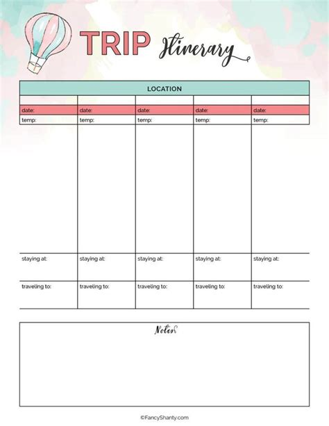 Diy Vacation Planner