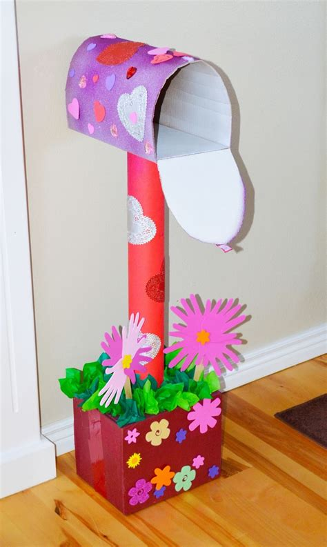 Diy Valentines Day Mailbox With Cardboard Boxes