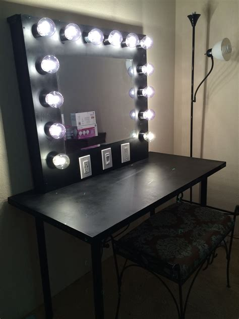 Diy Vanity Light With Mirror