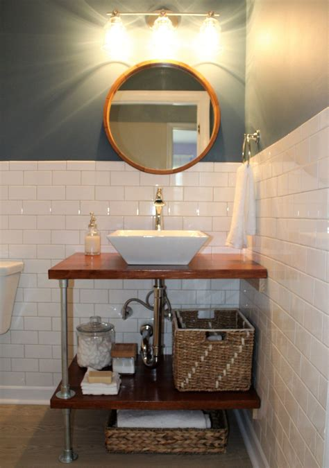 Diy Vanity With Shelves