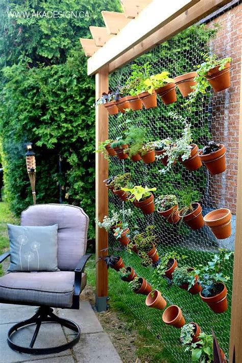 Diy Vertical Garden On Fence