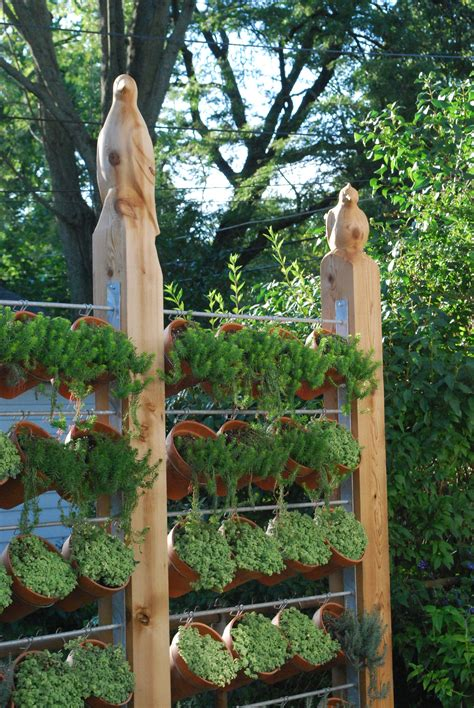 Diy Vertical Herb Garden On Fence Cans