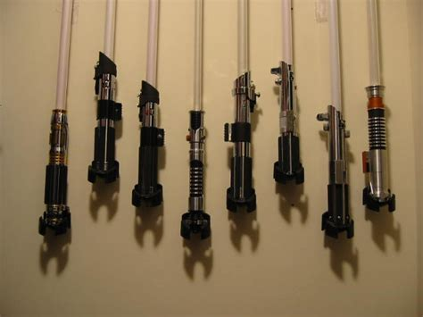 Diy Vertical Lightsaber Stand On Wall