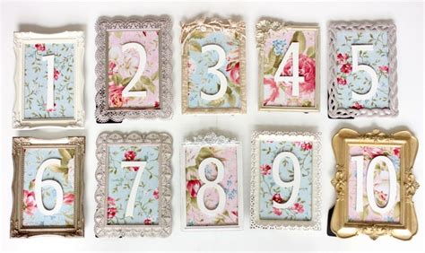 Diy Vintage Table Numbers