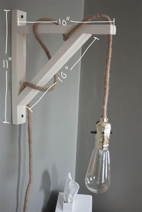 Diy Wall Lamp With Cord
