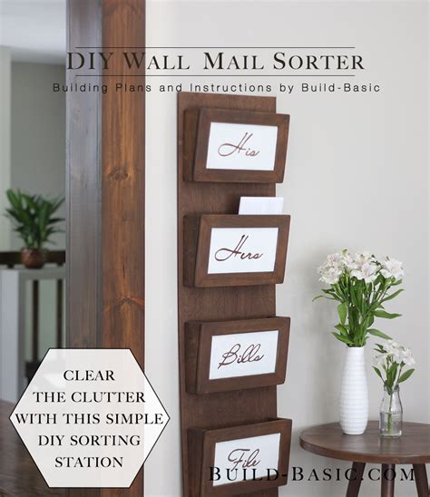 Diy Wall Mail Sorter