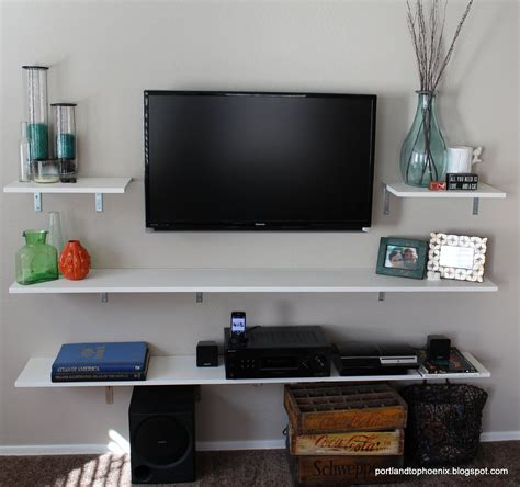 Diy Wall Mount Tv Shelf
