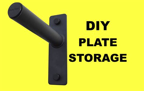Diy Wall Mounted Bumper Weight Plate Storage
