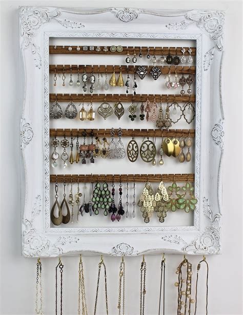 Diy Wall Mounted Jewelry Rack