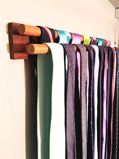 Diy Wall Mounted Tie Rack