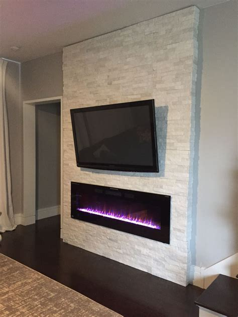 Diy Wall With Electric Fireplace Wall Build