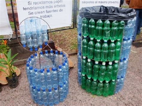 Diy Waste Bin With Plastic Bottles