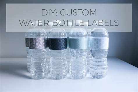 Diy Water Bottle Labels