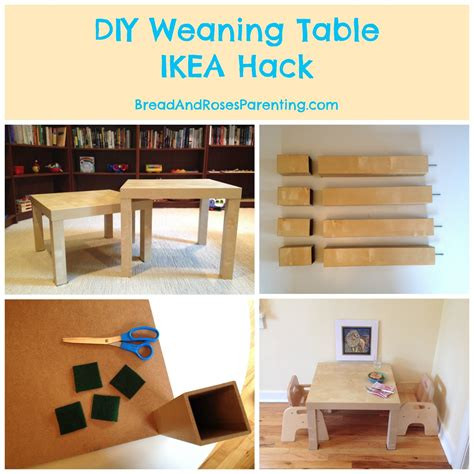 Diy Weaning Table And Chair