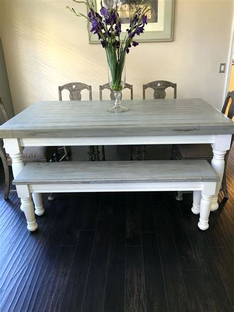 Diy Weathered Wood Dining Table