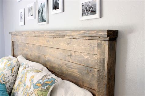 Diy Weathered Wood Headboard